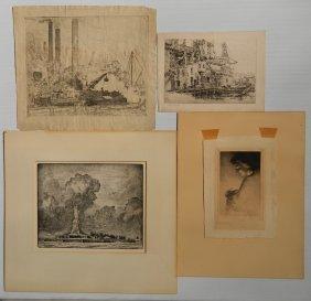 20th C. American School 4 Prints