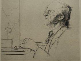 William Auerbach-levy Drypoint
