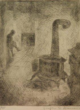Joseph Hauser Drypoint
