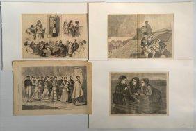 After Winslow Homer 4 Wood Engravings