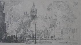 Charles Wheeler Locke Lithograph