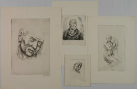 Kenneth Hayes Miller 4 Etchings