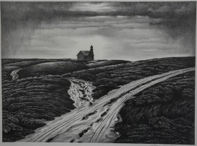 Edward Arthur Wilson Lithograph