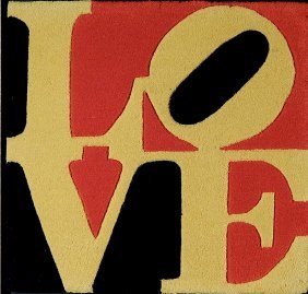 After Robert Indiana Wool Tapestry