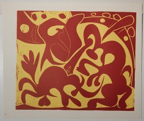 After Pablo Picasso 4 Linocuts
