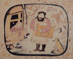 V. Snitkovsky Watercolor