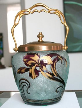 Baccarat Cameo Glass Biscuit Jar