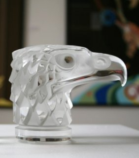 Lalique French Crystal Eagle Mascot