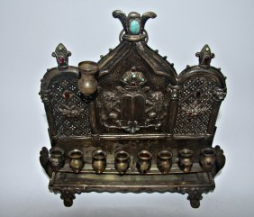 Rare Austro-hungarian Silver Hanukkah Lamp