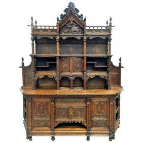 Mid-19th Century Monumental Antique Chinese Sideboard