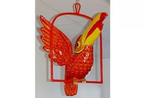 Sergio Bustamante Style Papier Mache Parrot
