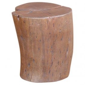 Solid Wood Tree Trunk Side Table