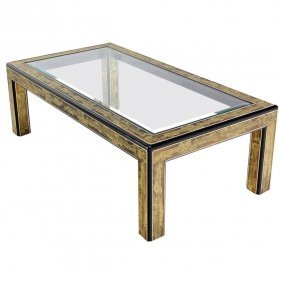 Acid Etched Coffee Table By Bernhard Rohne Mastercraft