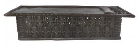 Bamileke Carved Tribal Spider Bed Coffee Table Or Bench