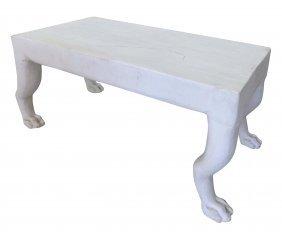 John Dickinson Style Plaster Paws Coffee Table