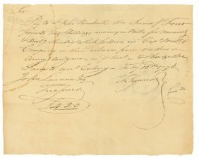 DOCUMENT SIGNED BY THOMAS SEYMOUR