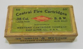 Antique Western Cartridge Company .38 S&w Sealed Box Of