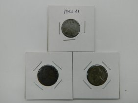 Lot Of Three Wwii Era Coins