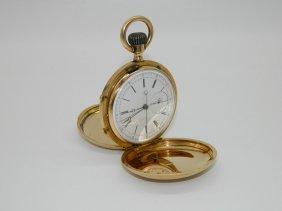 18k Gold Jump Quarter Split Second Hand Chronograph