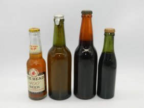 "Four Prohibition Era Bootleg Beers, Fox Head ""400"""