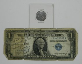 Old U.s. Currency Lot Of A 1935 One Dollar Silver