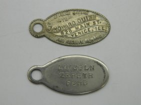 Provenance Lot Of Quinn's Personal Key Fobs