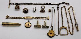 Lot Of Assorted Heavy Gold Filled Items