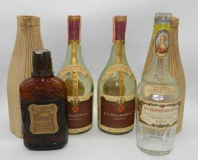 Lot Of Four Early Liquor Bottles