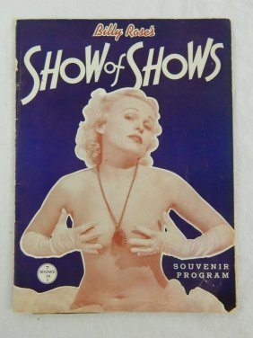 C. 1930's Billy Rose's Show Of Shows Burlesque Program