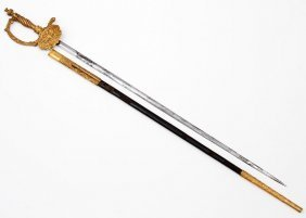 Imperial Russian Small Court Sword, Mo. 1855 With Gilt