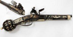 Renaissance Style 30-bore Gilt Flintlock Pistol