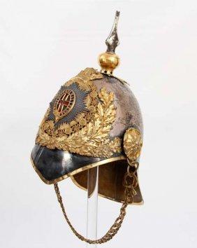 Fine Ww I English Royal Guard Officer's Helmet