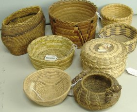 8 Indian Baskets