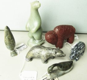 6 Stone Sculptures