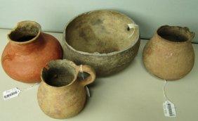 4 Salado Pottery Bowls