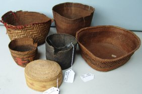 6 Indian Baskets