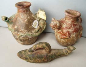 3 Mexican Pottery Jars