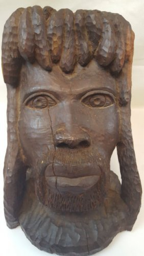 Wooden Jamaican Face Carving