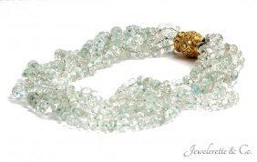 Goshenite Torsade Necklace