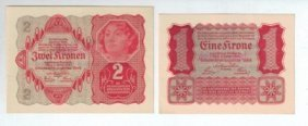 Nazi Propaganda - Two Fake Banknotes From The Period Of
