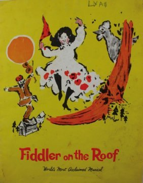 "Programme Of The Play ""fiddler On The Roof"", German And"