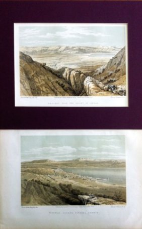 3 Lithographs Of The Artist David Roberts - Published