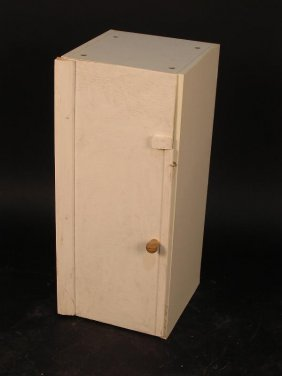 AN ADAPTED KITCHEN CUPBOARD, THE FORMICA FRAME