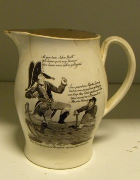 An Early 19th Century Creamware Jug, Possibly Liverpool