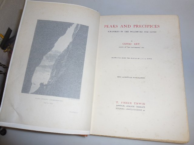 1914 PEAKS and PRECIPICES DOLOMITES and SAVOY GUIDO REY 76 photos MOUNTAINEERING