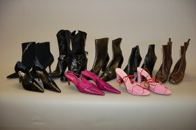 A Group Of Mich�l Perry Footwear, Comprising: Five P