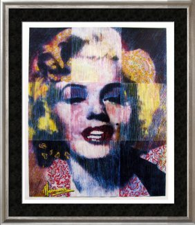 Pop Marilyn Monroe Limited Edition Ap Signed Art Sale