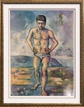 Paul Cezanne The Bather C.1885-87 Fine Art Print