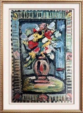 Georges Roualt Bouquet C.1938 Fine Art Print Signed In