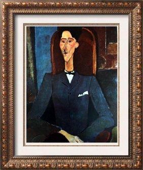 Amedeo Modigliani Jean Cocteau C.1917 Fine Art Print